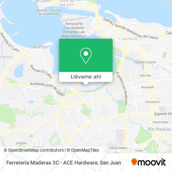 Mapa de Ferreteria Maderas 3C - ACE Hardware