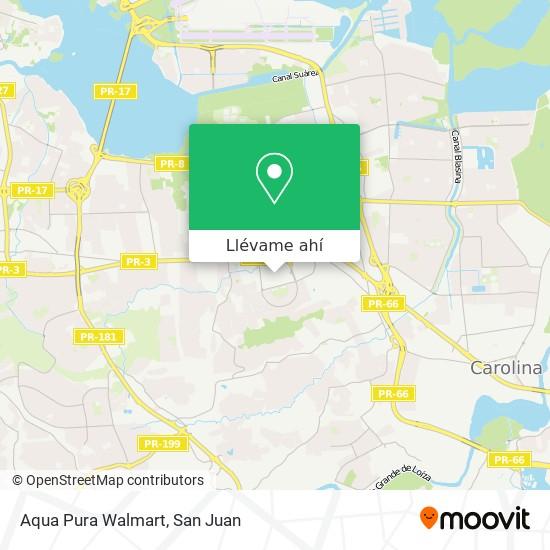 Mapa de Aqua Pura Walmart