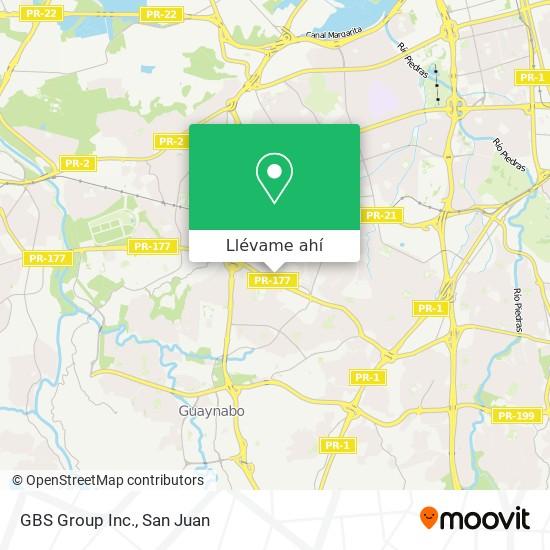 Mapa de GBS Group Inc.