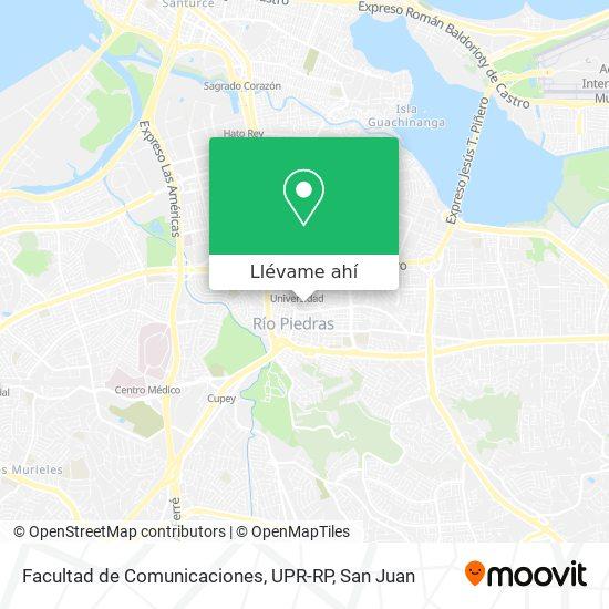 Mapa de Facultad de Comunicaciones, UPR-RP