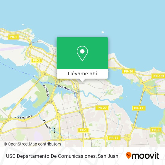 Mapa de USC Departamento De Comunicasiones