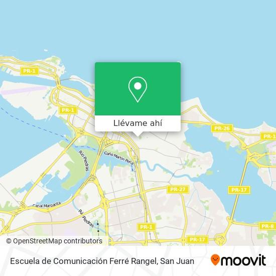 Mapa de Escuela de Comunicación Ferré Rangel