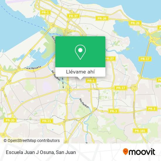 Mapa de Escuela Juan J Osuna