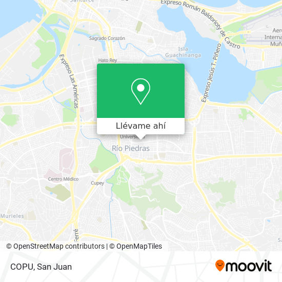 Mapa de COPU