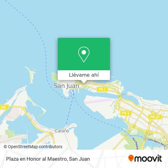 Mapa de Plaza en Honor al Maestro