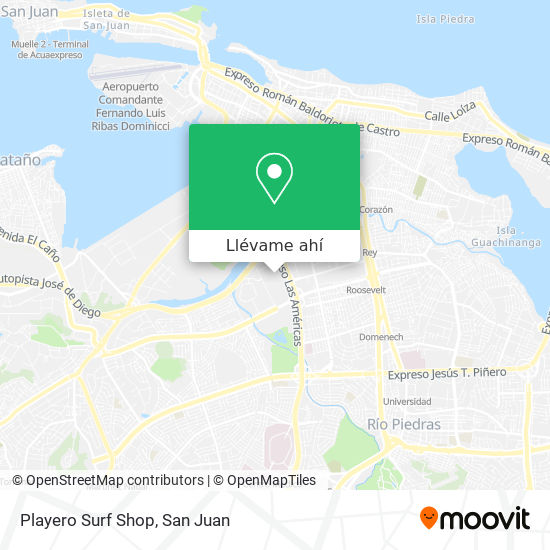 Mapa de Playero Surf Shop