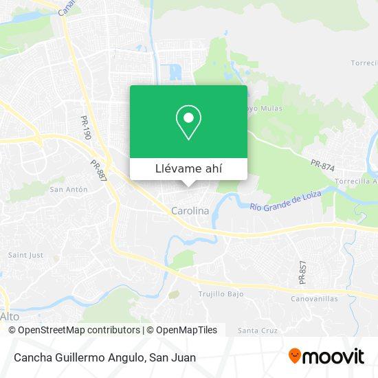 Mapa de Cancha Guillermo Angulo