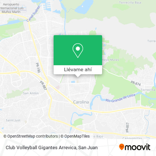 Mapa de Club Volleyball Gigantes Arrevica