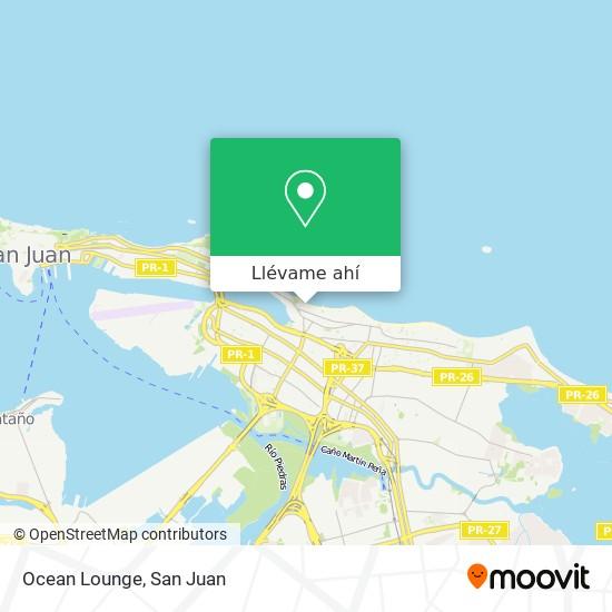 Mapa de Ocean Lounge