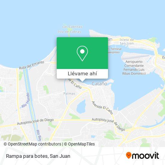 Mapa de Rampa para botes