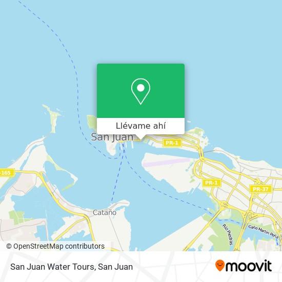 Mapa de San Juan Water Tours