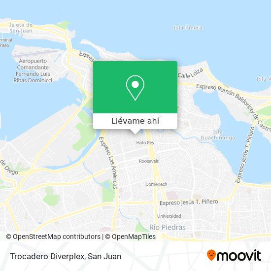 Mapa de Trocadero Diverplex