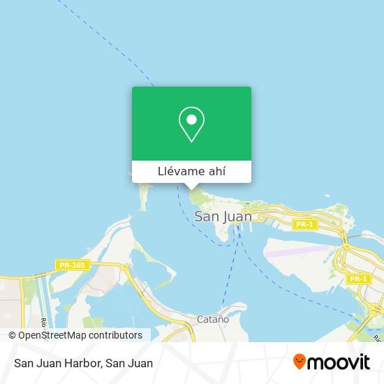 Mapa de San Juan Harbor