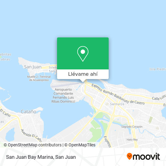 Mapa de San Juan Bay Marina