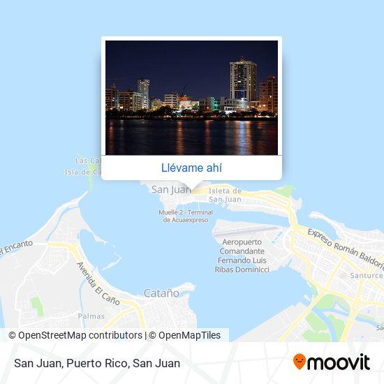 Mapa de San Juan, Puerto Rico
