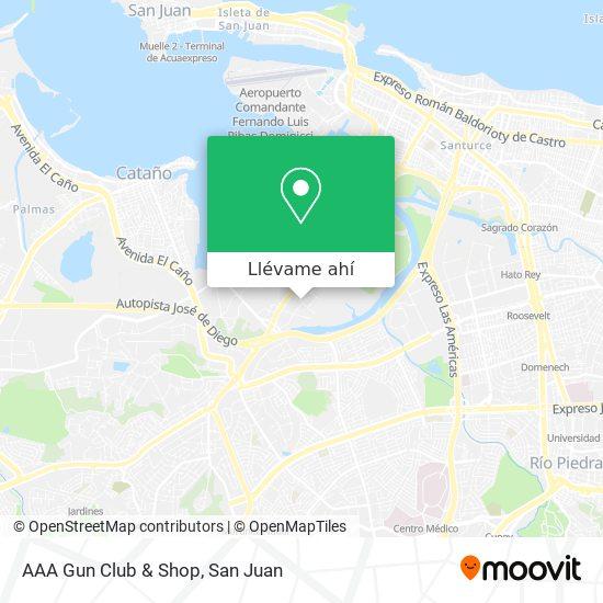 Mapa de AAA Gun Club & Shop