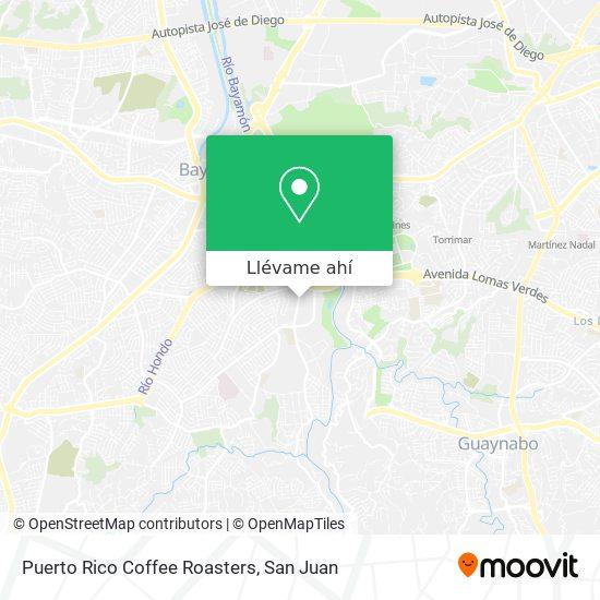 Mapa de Puerto Rico Coffee Roasters