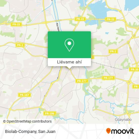 Mapa de Biolab-Company