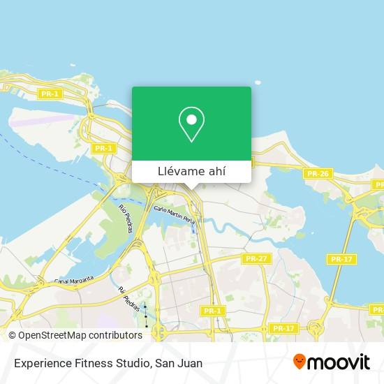 Mapa de Experience Fitness Studio