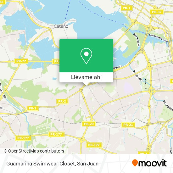 Mapa de Guamarina Swimwear Closet