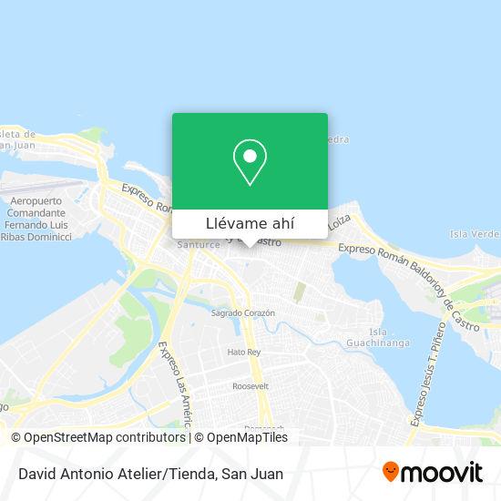 Mapa de David Antonio Atelier/Tienda