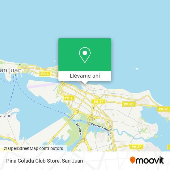 Mapa de Pina Colada Club Store