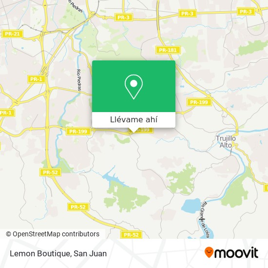 Mapa de Lemon Boutique