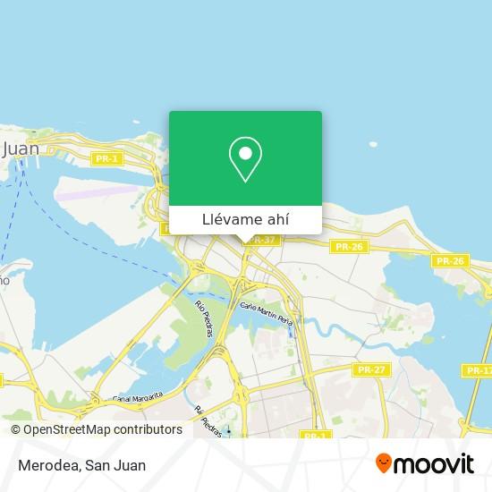 Mapa de Merodea