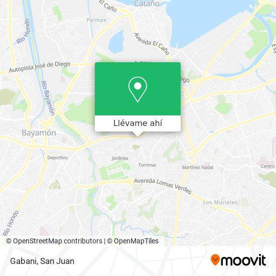 Mapa de Gabani