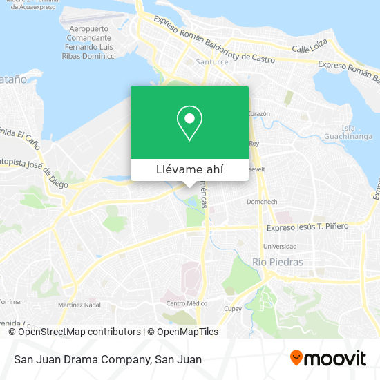 Mapa de San Juan Drama Company