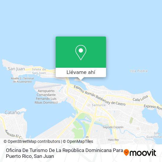Mapa de Oficina De Turismo De La República Dominicana Para Puerto Rico