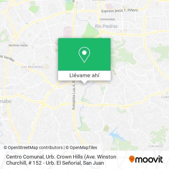 Mapa de Centro Comunal, Urb. Crown Hills