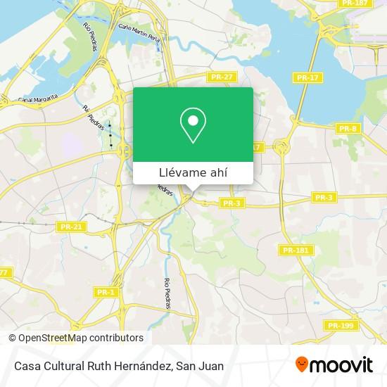 Mapa de Casa Cultural Ruth Hernández