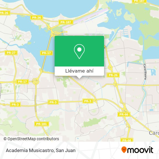Mapa de Academia Musicastro