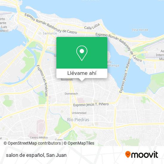 Mapa de salon de español