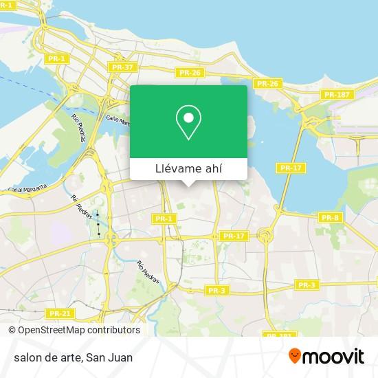 Mapa de salon de arte