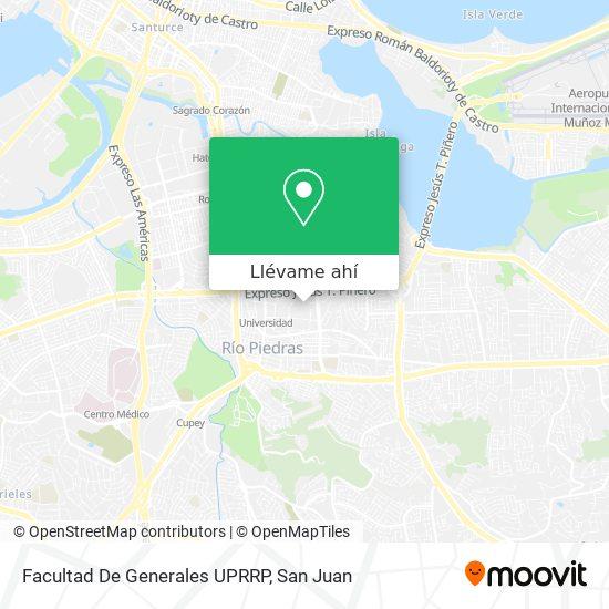 Mapa de Facultad De Generales UPRRP