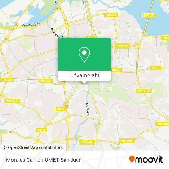 Mapa de Morales Carrion-UMET
