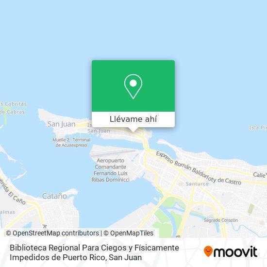 Mapa de Biblioteca Regional Para Ciegos y Físicamente Impedidos de Puerto Rico