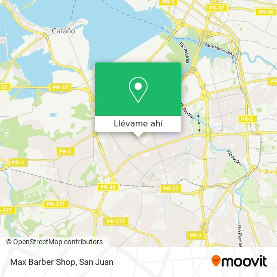 Mapa de Max Barber Shop