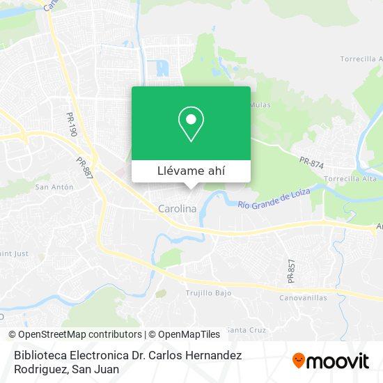 Mapa de Biblioteca Electronica Dr. Carlos Hernandez Rodriguez