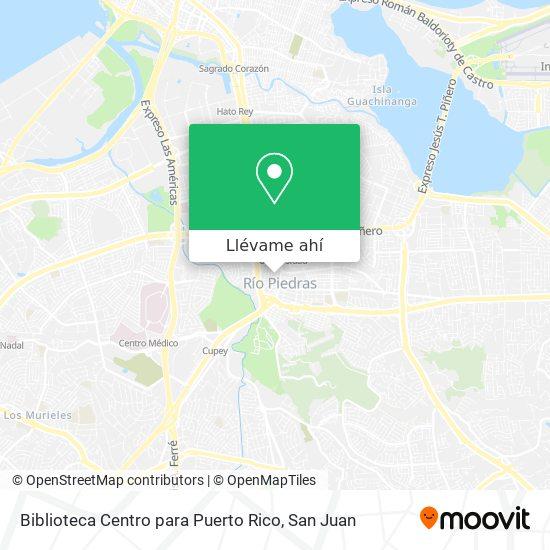 Mapa de Biblioteca Centro para Puerto Rico