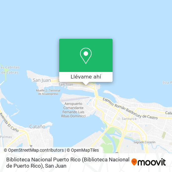 Mapa de Biblioteca Nacional Puerto Rico