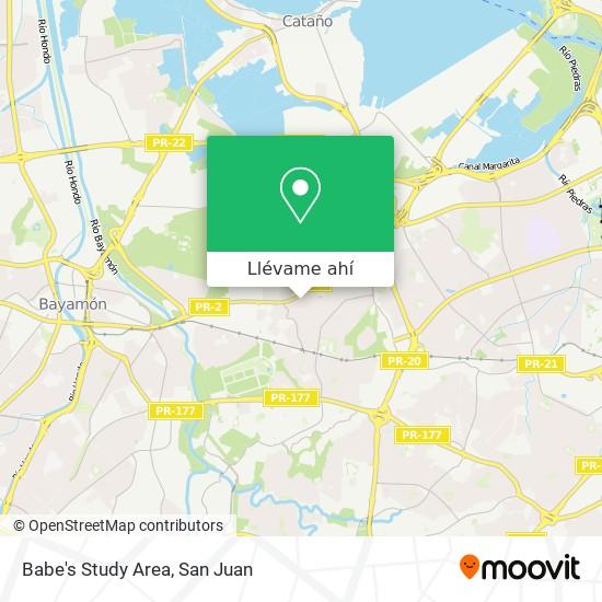 Mapa de Babe's Study Area
