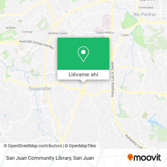 Mapa de San Juan Community Library