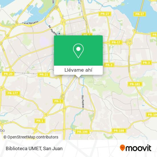 Mapa de Biblioteca UMET