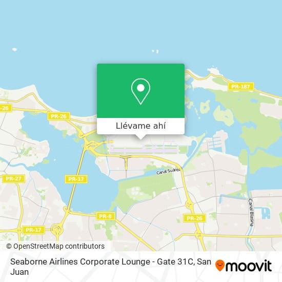 Mapa de Seaborne Airlines Corporate Lounge - Gate 31C
