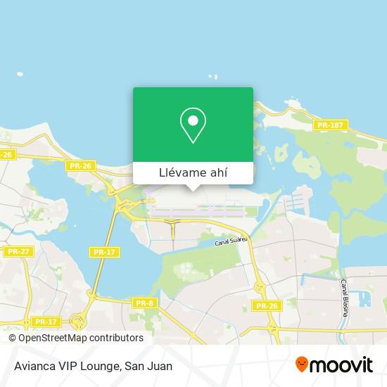 Mapa de Avianca VIP Lounge