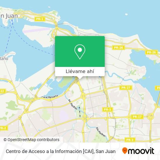 Mapa de Centro de Acceso a la Información [CAI]