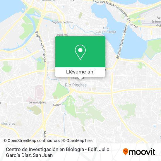 Mapa de Centro de Investigación en Biología - Edif. Julio García Díaz